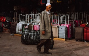 China Koffer oder Rucksack